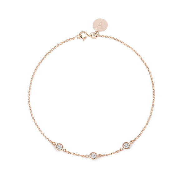 TousiAttar  Diamond Bracelet 0.15ct Rose Gold