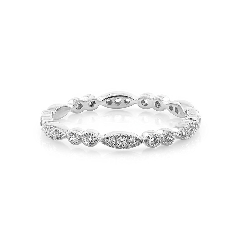 TousiAttar Diamond Eternity Band Art Deco Rings
