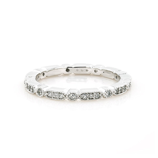 TousiAttar Eternity Filigree Diamond Ring Band