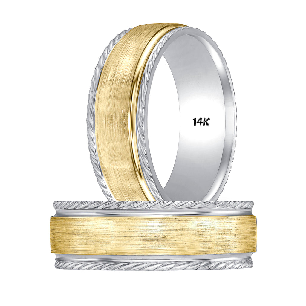 mens two tone gold rings