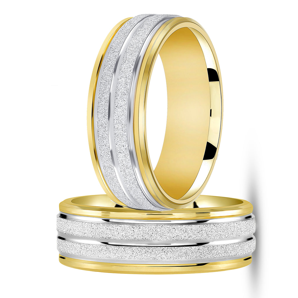 two tone wedding band for women