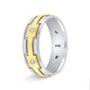 Two Tone Gold Wedding Band Diamond