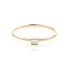 TousiAttar Square Diamond Ring Stackable Bezel Settings