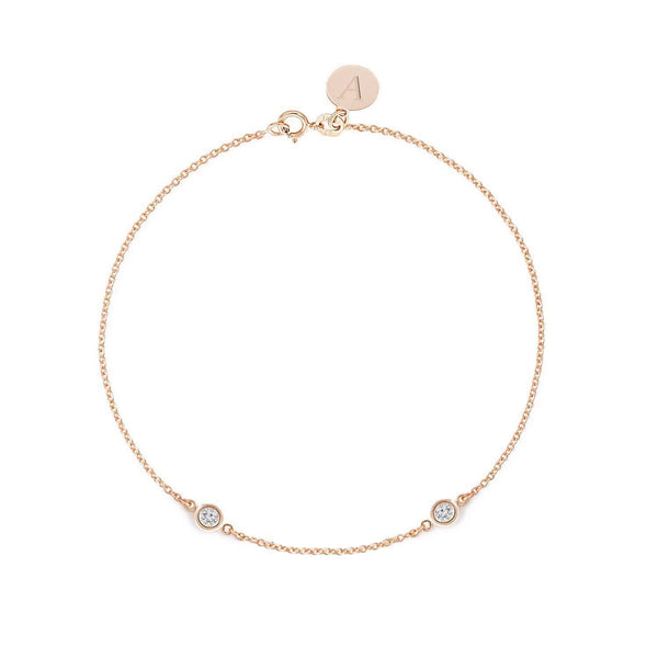 TousiAttar Diamond Bracelet 0.10 ct Rose Gold