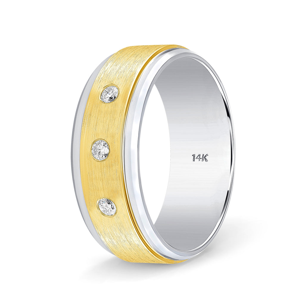 Diamond Weddings Bands for Men and Women Tow Tone