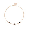 Black Diamond Bracelet 3 stones Gold