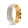 Weddings Bands Hammered Finch Comfort Fit Tone Tone