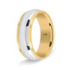 Two Tone Wedding Band for Men and Women