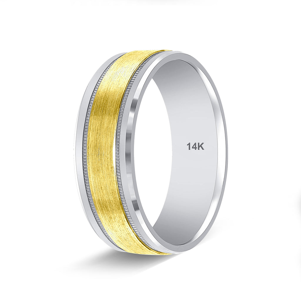 Two Tone Gold Wedding Rings Handmade