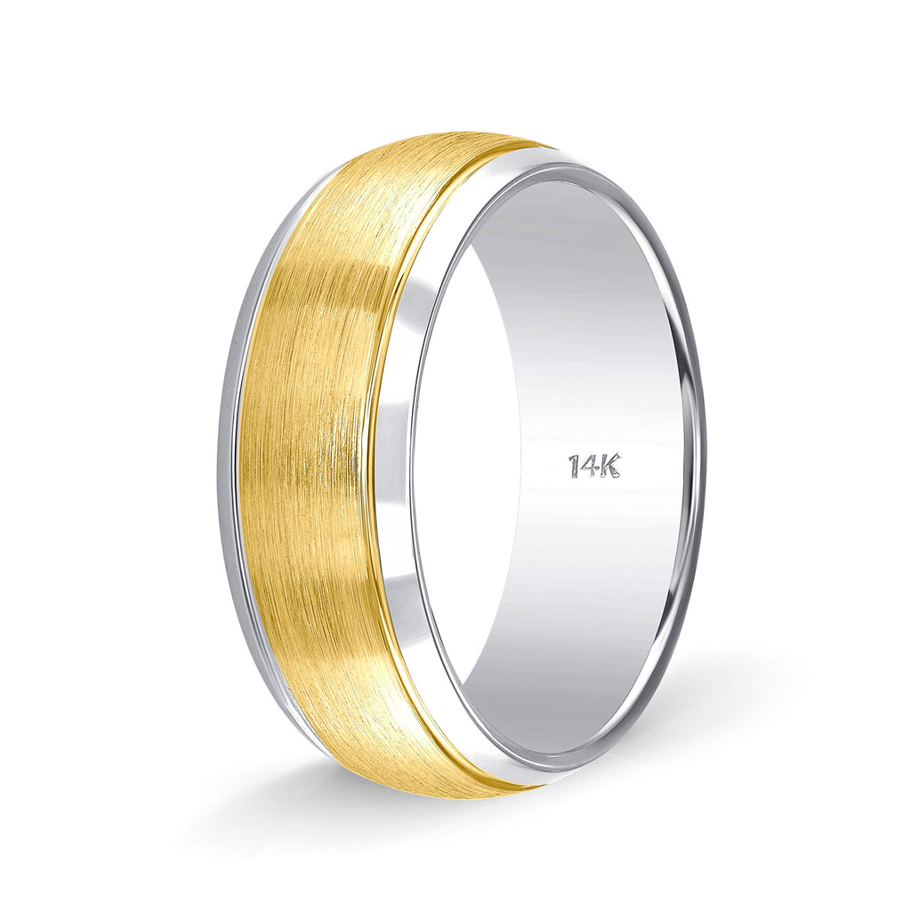 Weddings Band for Women Two Tone Gold