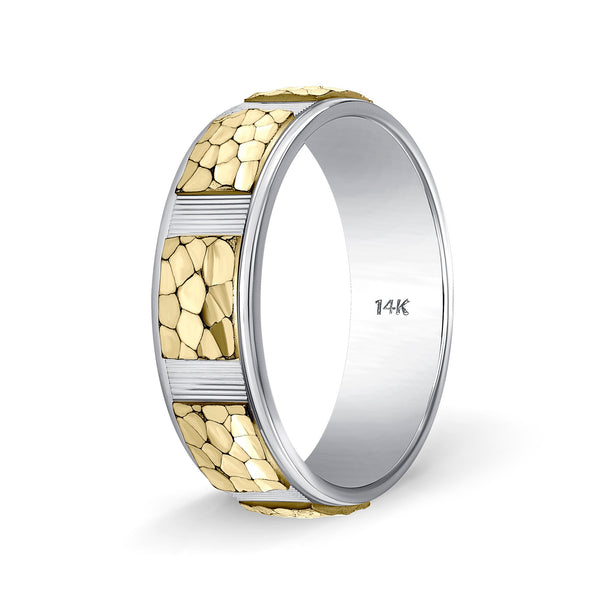 Mens Two Tone Gold Wedding Bands