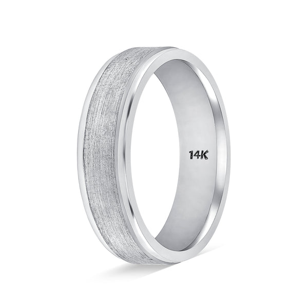 Weddings Bands for Him and Her Milgrain Brushed Finishe