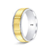 Two Tone Gold Wedding Rings Diamond Cut