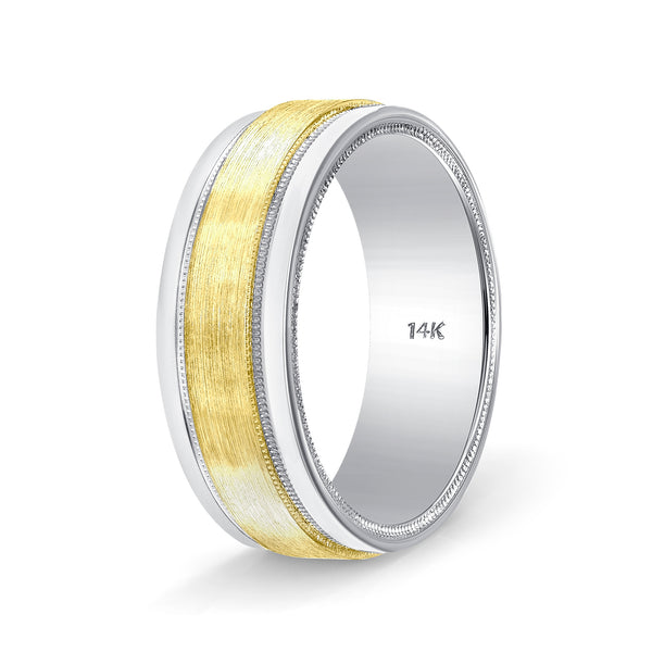 Two Tone Gold Wedding Rings
