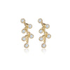 Diamond Stud Earrings Tiny 14k Yellow Gold Grape Earring