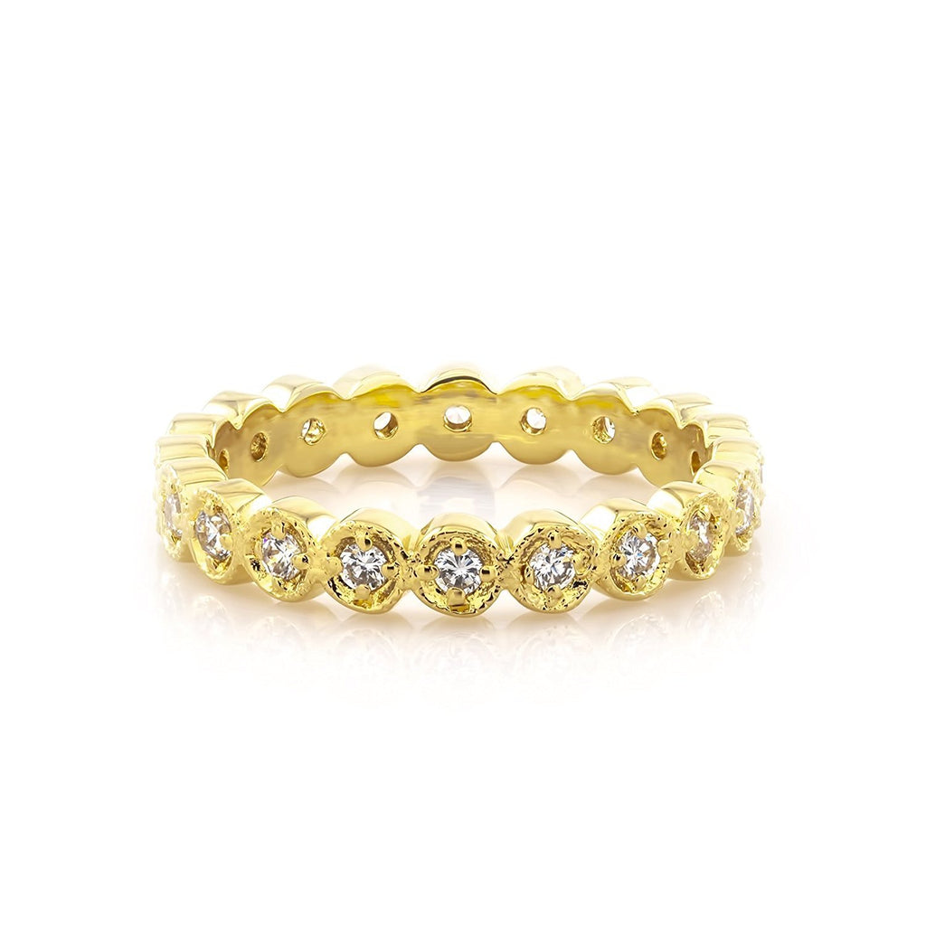 Diamond Eternity Gold Band Ring