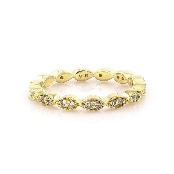 TousiAttar Eternity Band stack