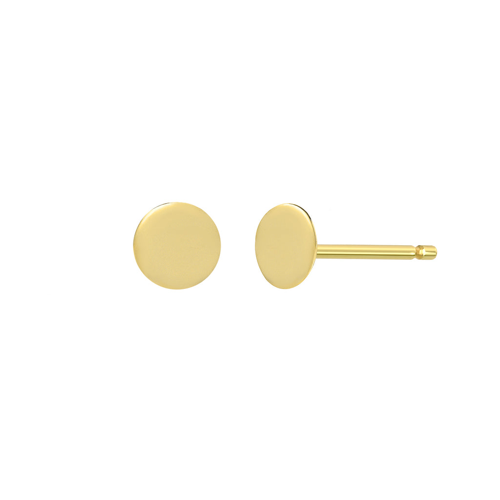 TousiAttar Circle Disk Stud Earrings Small and Minimalist