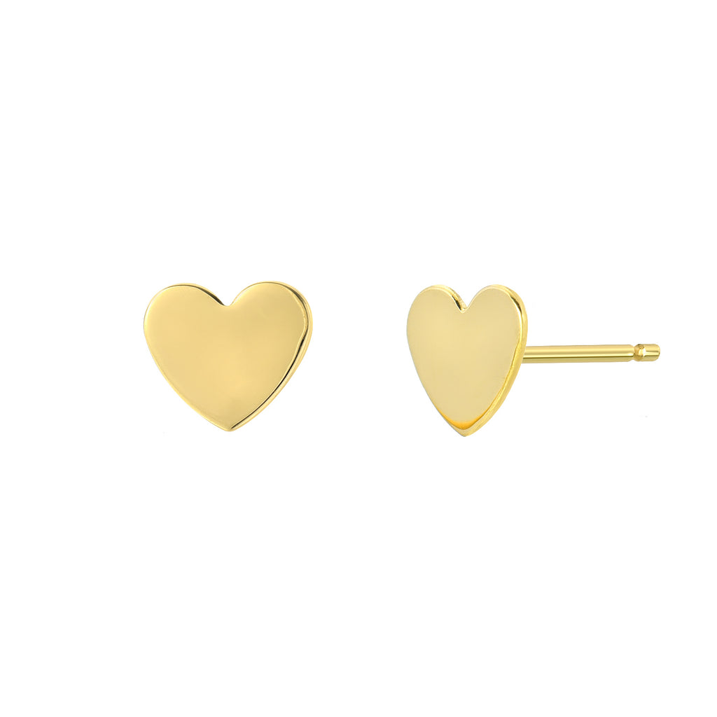TousiAttar Heart Stud Earrings Small and Minimalist