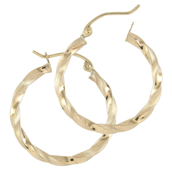 TousiAttar Satian Hoop Earrings