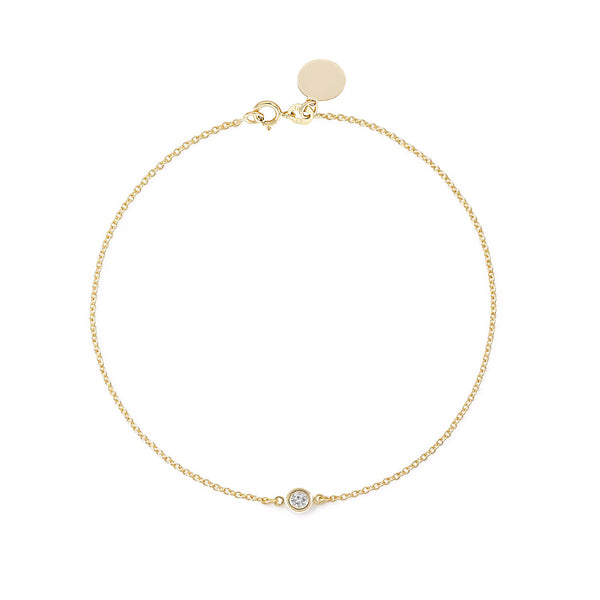 TousiAttar Diamond Bracelet Solitaire Yellow Gold