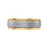 mens wedding bands two tone rose