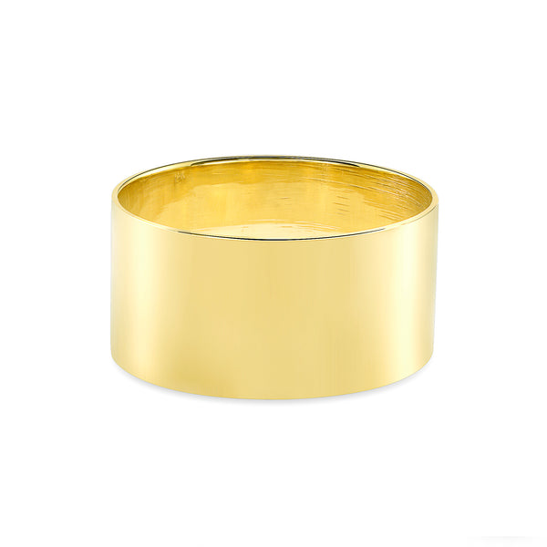 14K Gold Plain Band Ring  10MM Wide - 0.80 Thickness