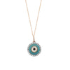 Evil Eye 14k Gold Diamond Pendant Necklace