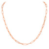 Paperclip Chain Necklace 14k Gold