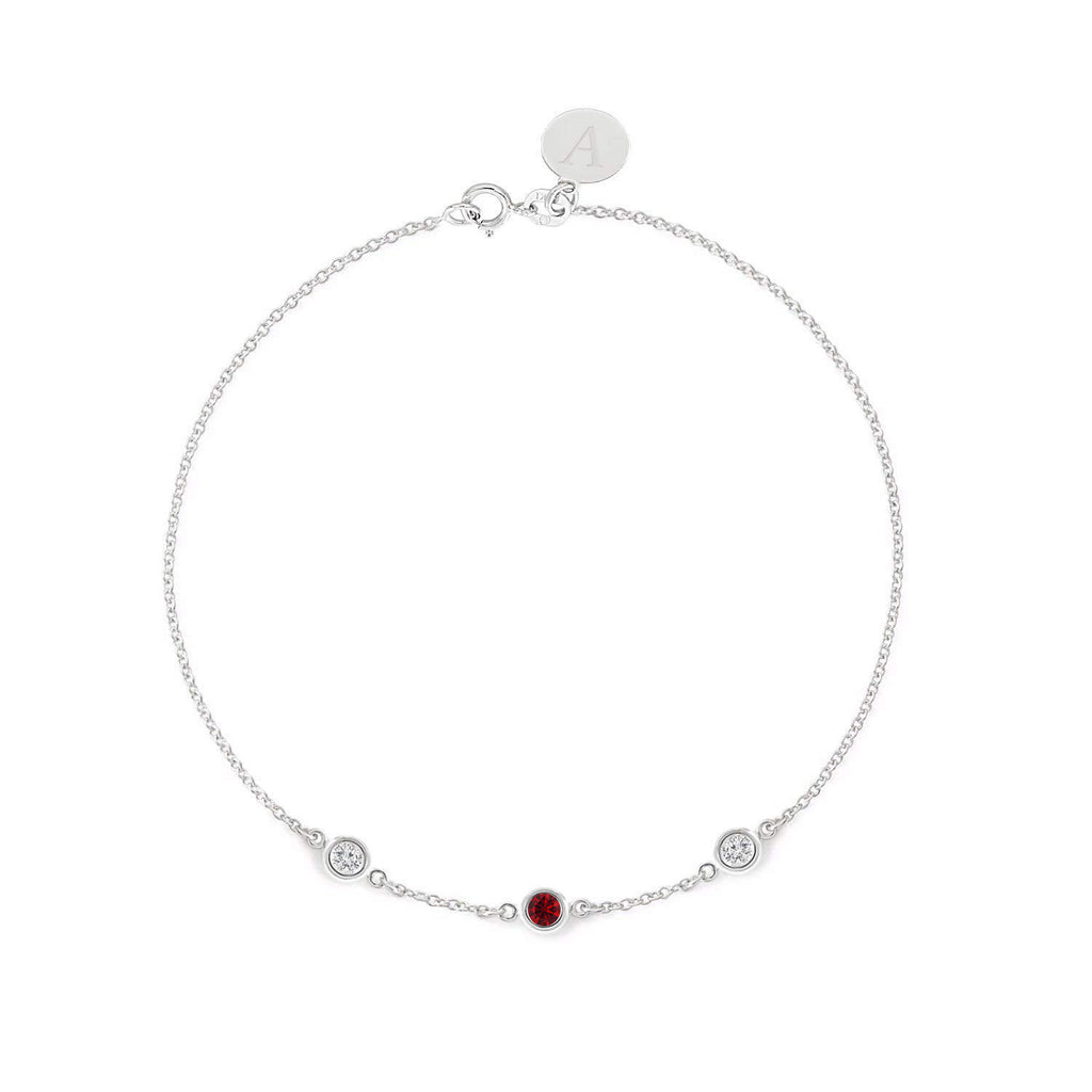 Ruby and Diamond Gold Bracelet