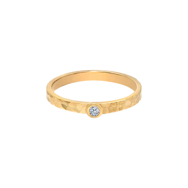 TousiAttar Solitaire Diamond Ring