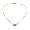 Native American Turquoise Necklace Pendant Gold