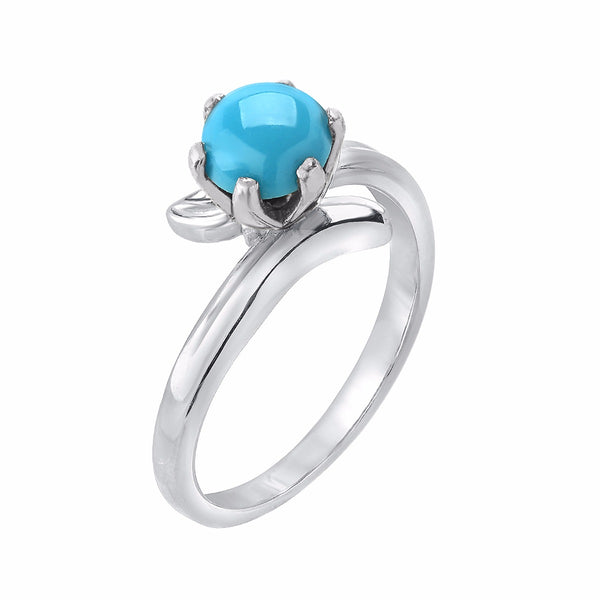 TousiAttar Jewelers Turquoise Ring White Gold