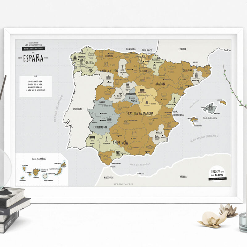 Mapa Rascable de España Enjoy Maps