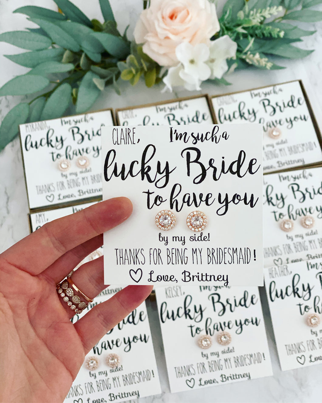 Lucky Bride! CZ earrings!