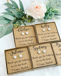 Bridesmaid Gifts! Cubic Zircon Earrings!