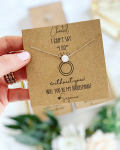 "Can't say ""I do"" dainty CZ stone Necklace!"