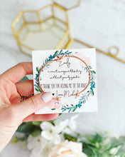 Thank you for being my Bridesmaid! Knot Bangle & Floral Wreath Card!
