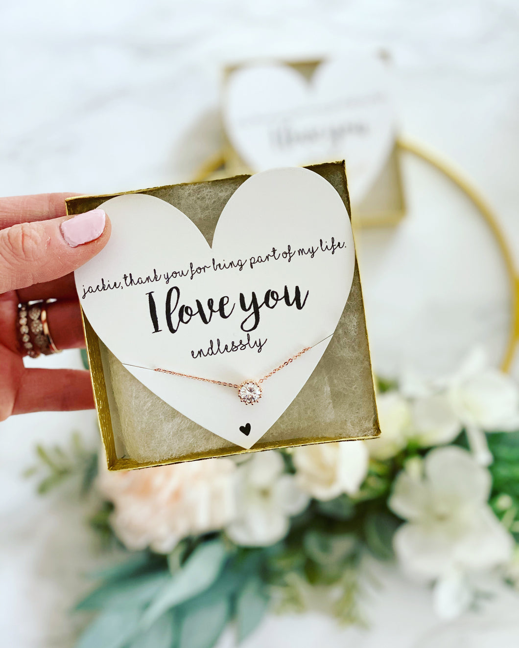 I love you Endlessly CZ Necklace!