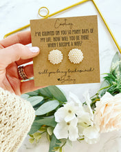 Pearl Cluster Earring Bridal Party Gift!