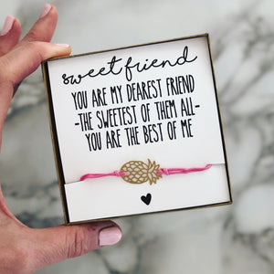 Best friend Pineapple bracelet!