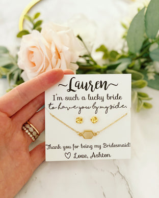 Lucky Bride druzy bracelet and earring set!