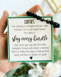 Encouragement Gift Workout Bracelet