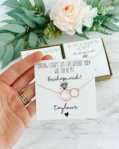 Infinity necklace Be My Bridesmaid?
