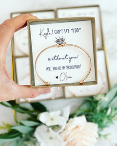 "Can't say ""I do"" without you! Knot Bangles!"