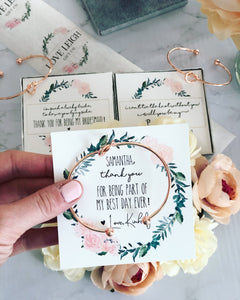 I'm such a lucky Bride! Knot Bangle & Floral Wreath Card!