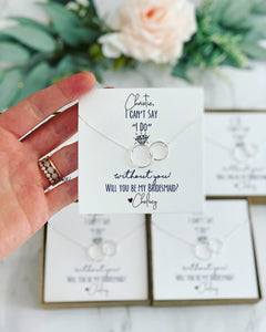 "Can't say ""I do"" without you! Infinity Necklace!"