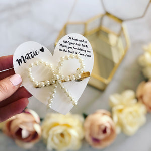 Pearl tie the knot bow knot pin!