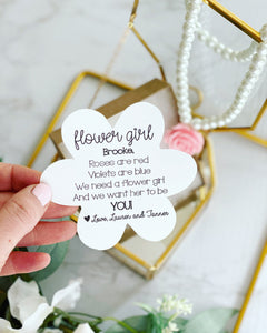 Will you be my Flower Girl? Necklace and Card!