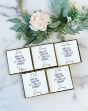 Groomsmen Cards! Just the Card & Box with Ribbon!